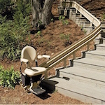 The-Bruno Elite Curved Outdoor Stair Lift-Image